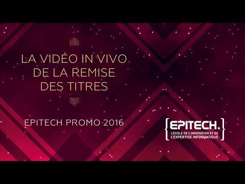Remise des titres Epitech - Promotion 2016