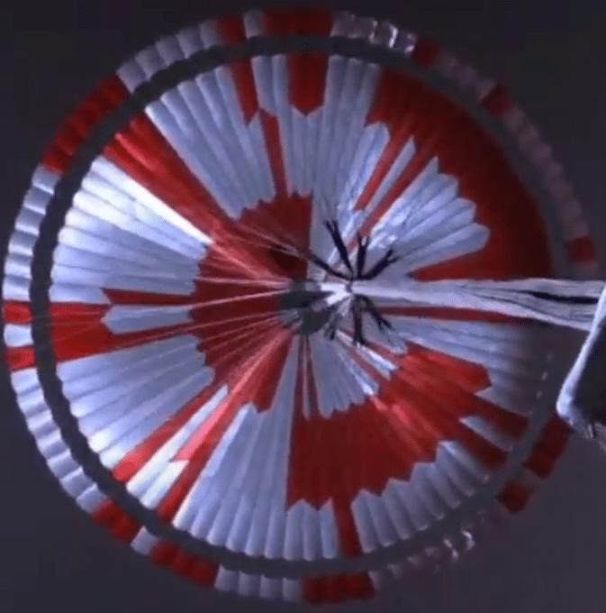perseverance parachute