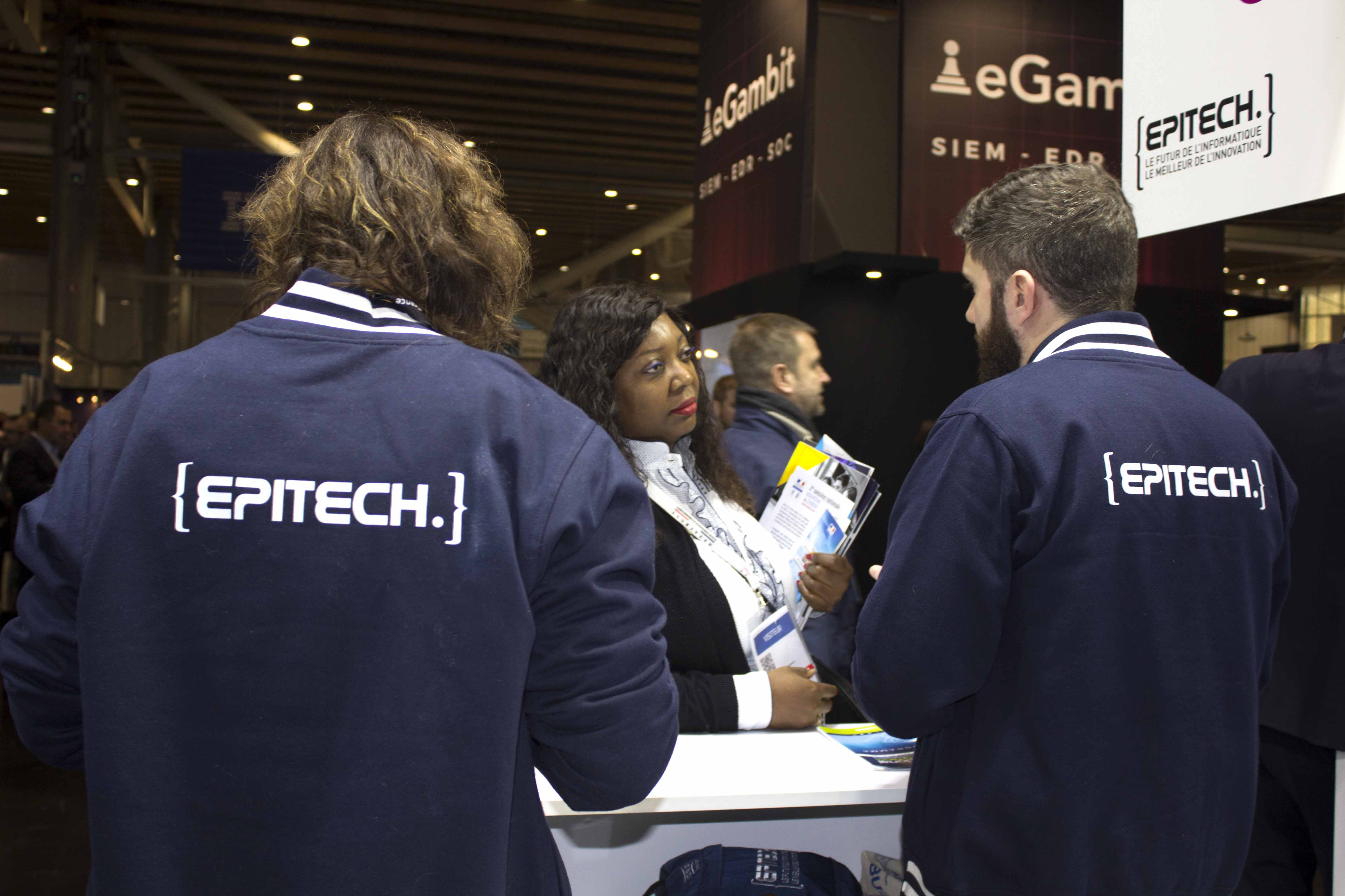 Stand Epitech Forum Internation de la Cyber Sécurité de Lille