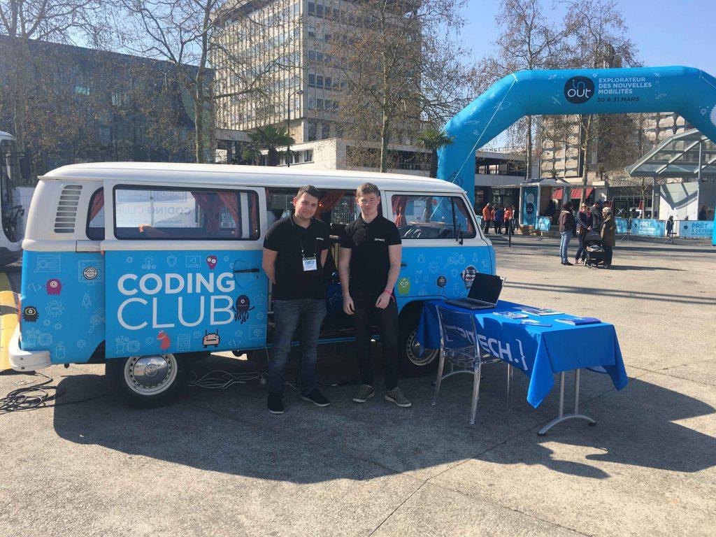 La route du Coding Club et son Combi Volkswagen