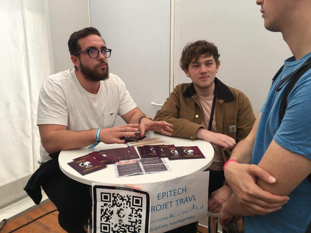 Le projet TravL d'étudiants d'Epitech Rennes à l'événement inOut