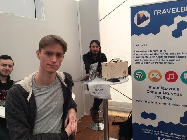 Le projet TravelBud d'étudiants d'Epitech Rennes à l'événement inOut.