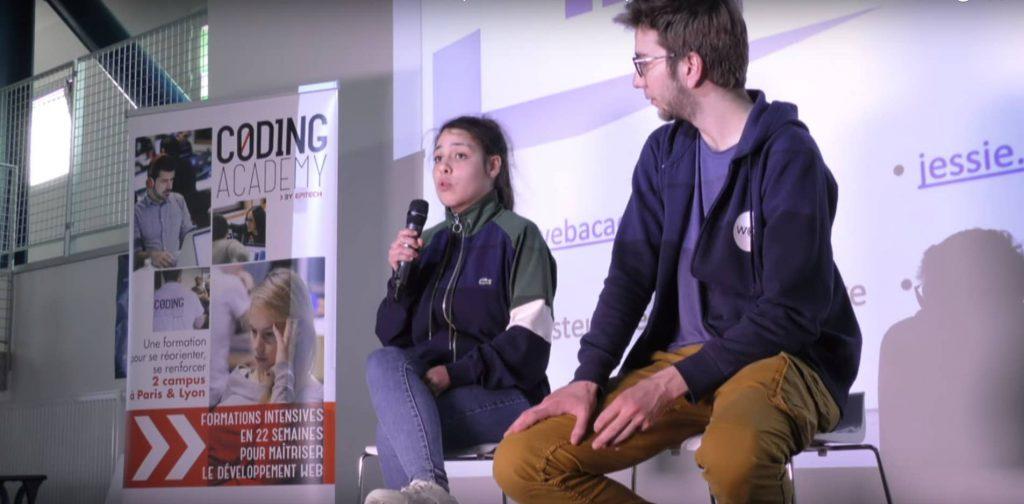 Emilie Jehenne, major de promo de la WAC