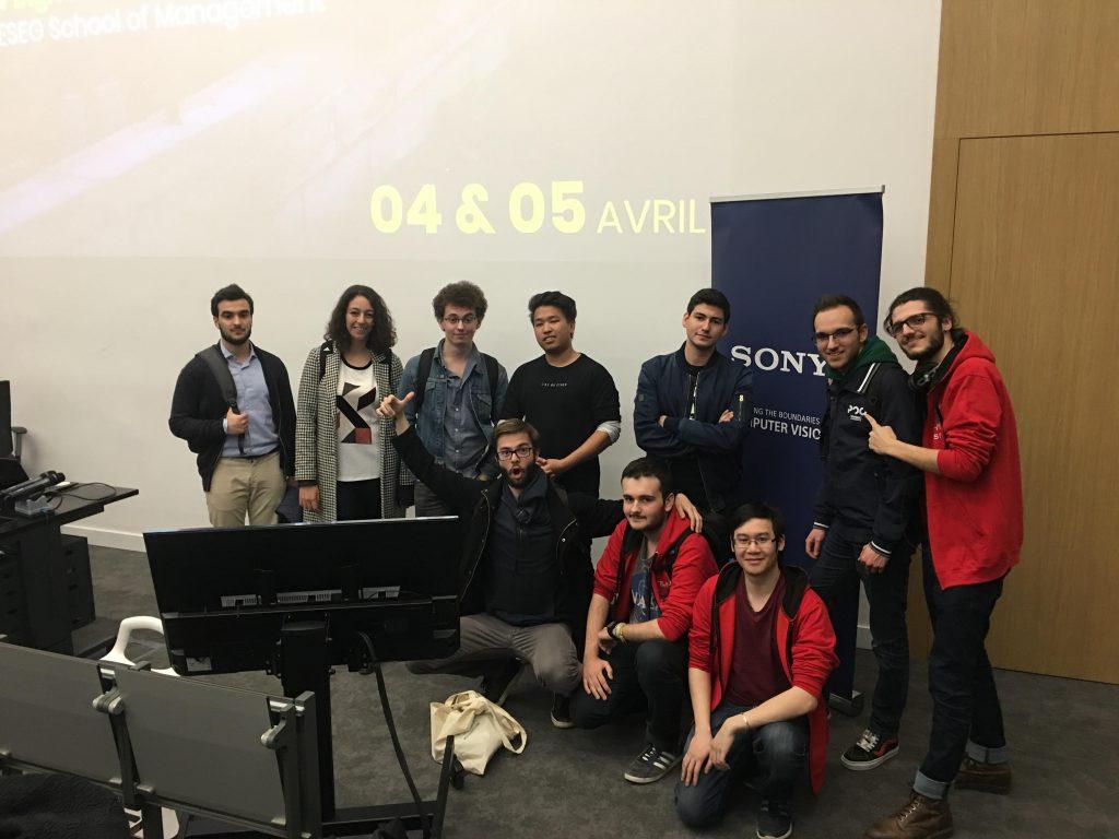 Les participants au hackathon digital and innovation days Epitech groupe Sony